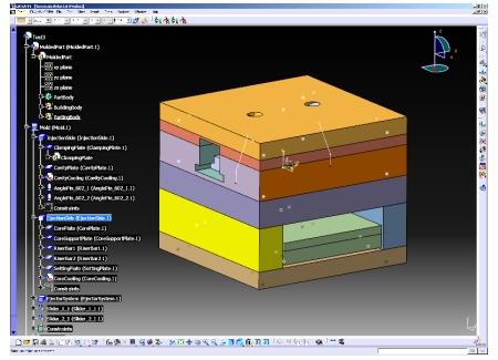 CATIA V5 Training Mold Tooling Design Course - CATIA V5 NC